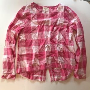 Anthropologie Cloth & Stone checkered shirt